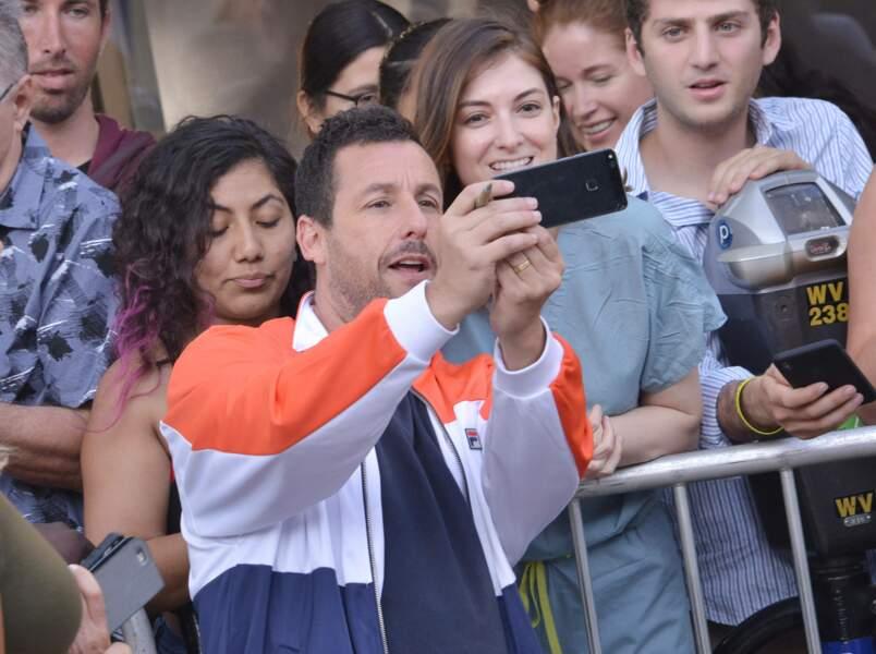 Adam Sandler avec ses fans