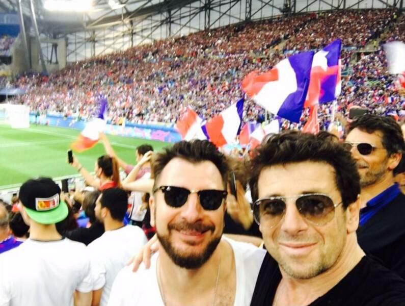 Patrick Bruel et Michael Youn au Stade Vélodrome