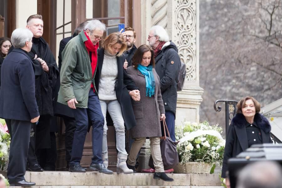 Benjamin Legrand, l'un des fils de Michel Legrand, et à son bras Eugénie Angot, la fille cadette du compositeur