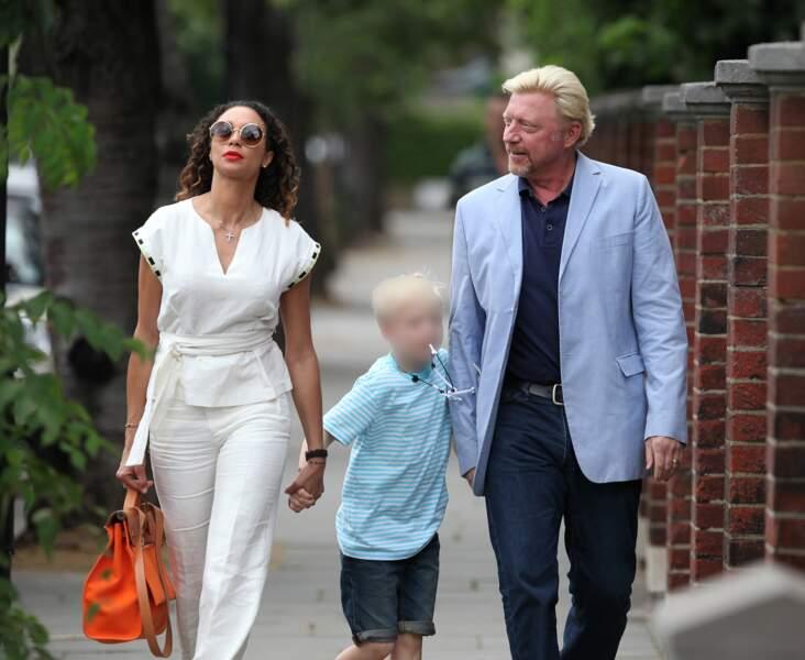 Boris Becker est venu, lui, en famille