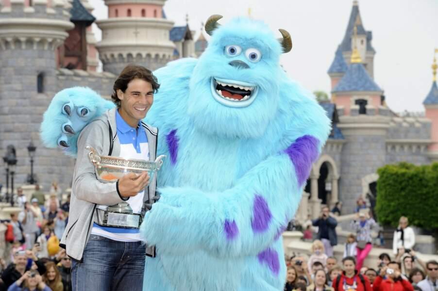 Rafael Nadal est ensuite allé fêter son titre à Disneyland.