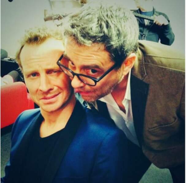 LE duo improbable : Olivier Bas et Sinclair, qui pour une fois ne s'envoient pas balader