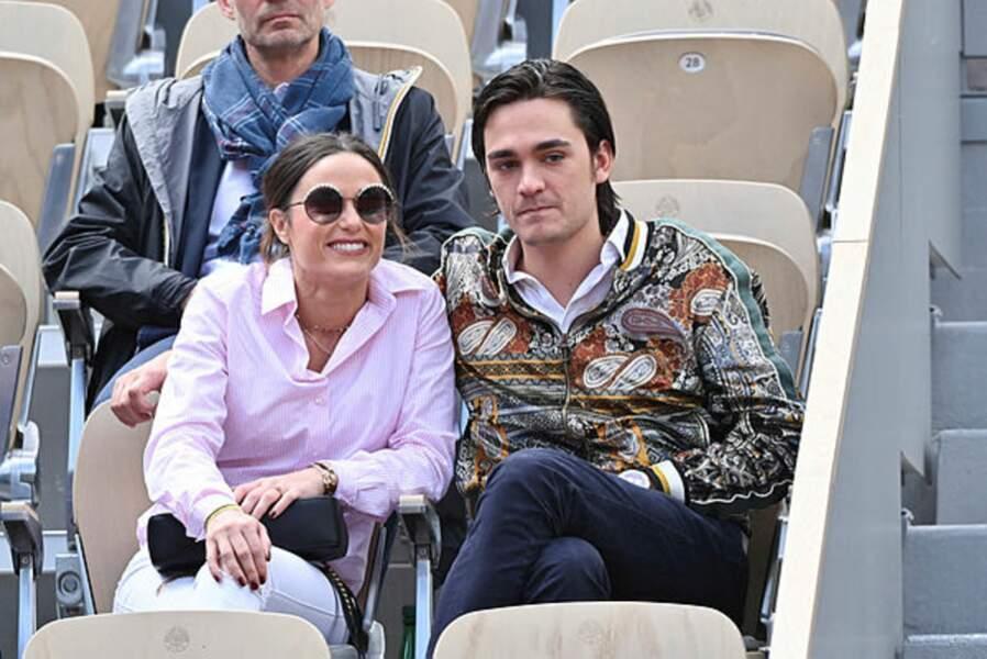 Capucine Anav et Alain-Fabien Delon, un duo tendre à Roland-Garros