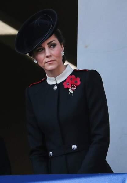 Kate Middleton ne veut rien rater de l'hommage aux soldats de la Grande Guerre