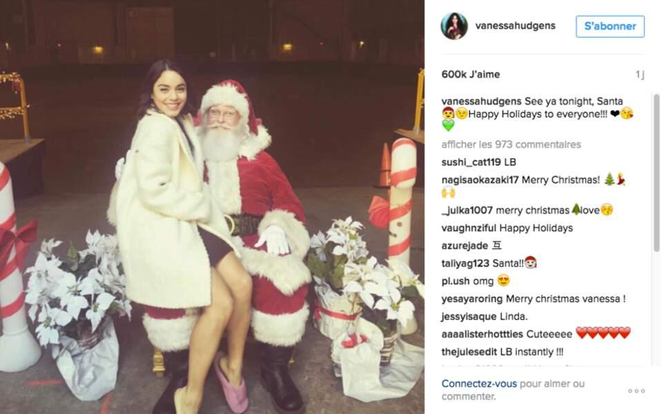 Le Père Noël ne doit pas regretter d'être passé chez Vanessa Hudgens
