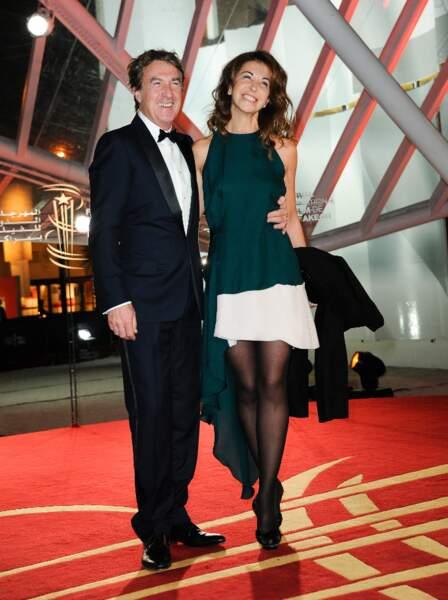 François Cluzet et sa femme Narjiss lors de la 13e édition du Festival de Marrakech