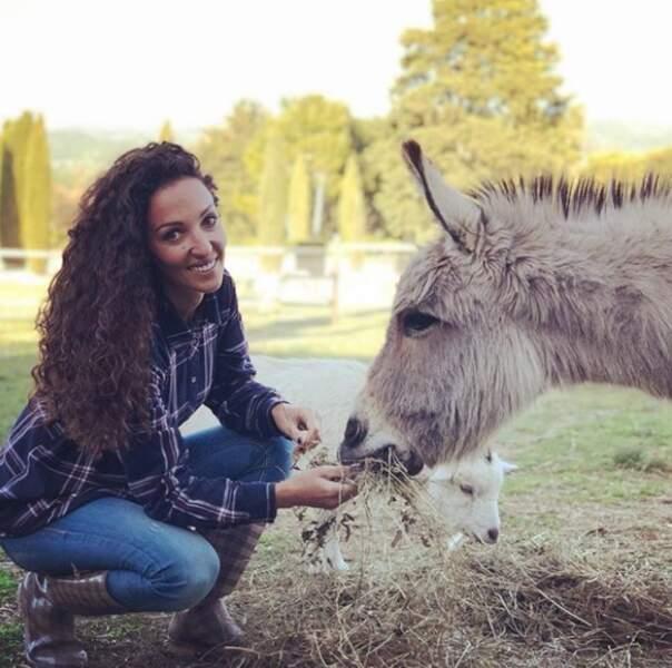 Emmanuelle Rivassoux aime également les animaux...