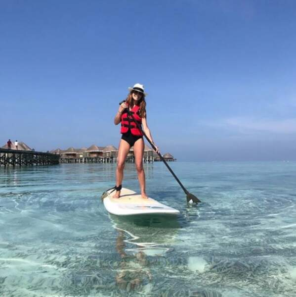 et que Karine Ferri fait du paddle...