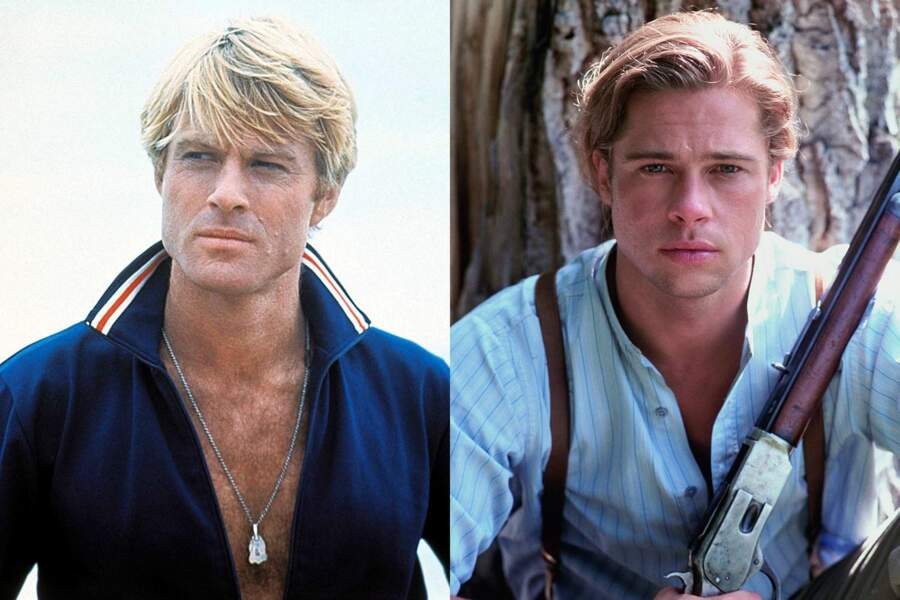 Blonds sexy : Robert Redford dans Nos plus belles années. Brad Pitt dans Légendes d'automne