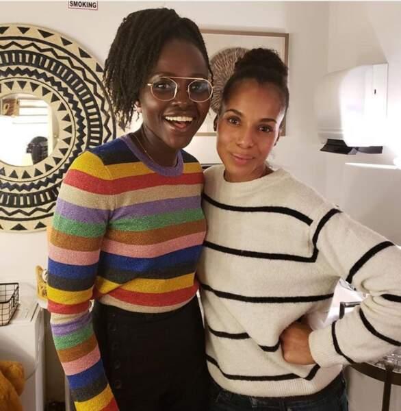 Etre rayonnante en rayures ? Défi réussi pour Lupita Nyong'o et Kerry Washington dans Les Reines du shopping !