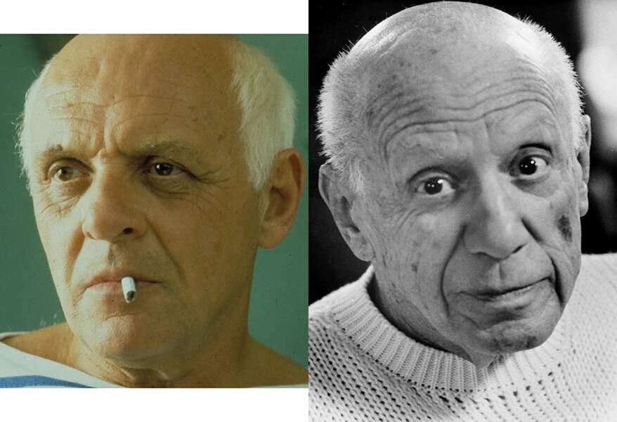 … Pablo Picasso, devant la caméra de James Ivory. Ressemblance ultra bluffante !