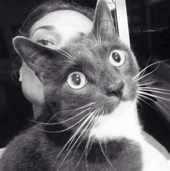 Comme tout le monde, Diane ADOOOOORE son chat