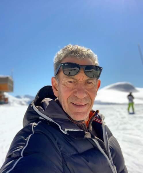 François Feldman skiait dans les Alpes-Maritimes.