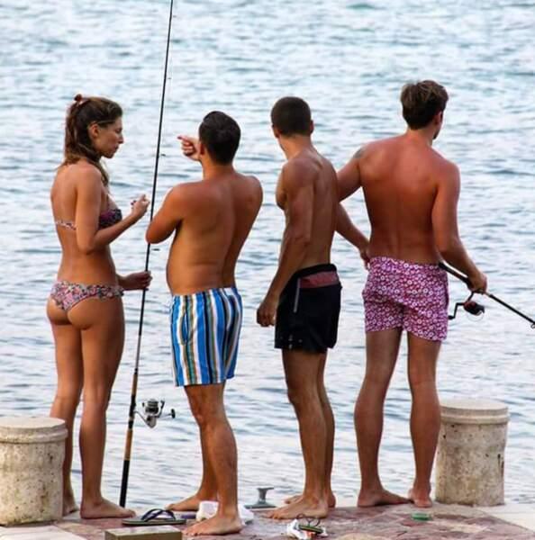 Quand Laury Thilleman est plutôt accro à la pêche entre copains