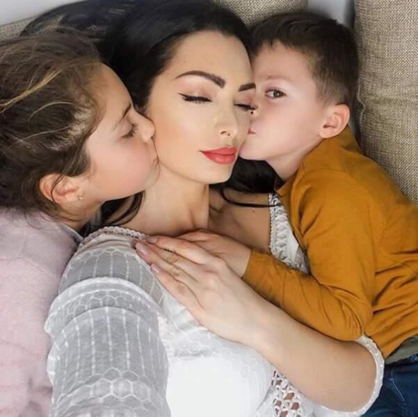 Émilie Nef Naf est l'heureuse maman de Maëlle et Menzo
