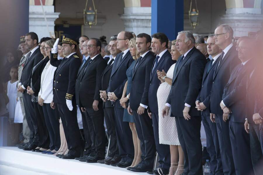 Comme François Hollande, Nicolas Sarkozy, le prince Albert ou le couple Macron, Madame Estrosi était au 1er rang