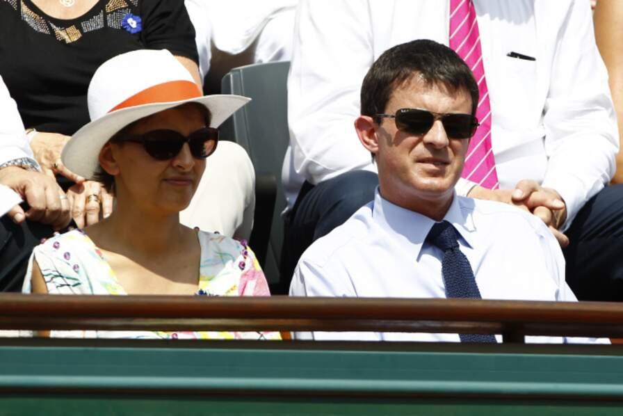 Najat Vallaud Belkacem et Manuel Valls ont assisté à la finale entre Nadal et Djokovic.