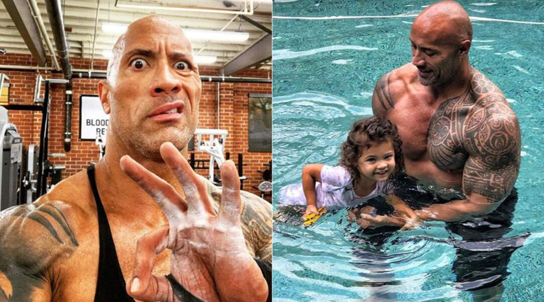 Bête de muscles, Dwayne Johnson possède un incroyable tatouage tribal d'inspiration maori au niveau de l'épaule