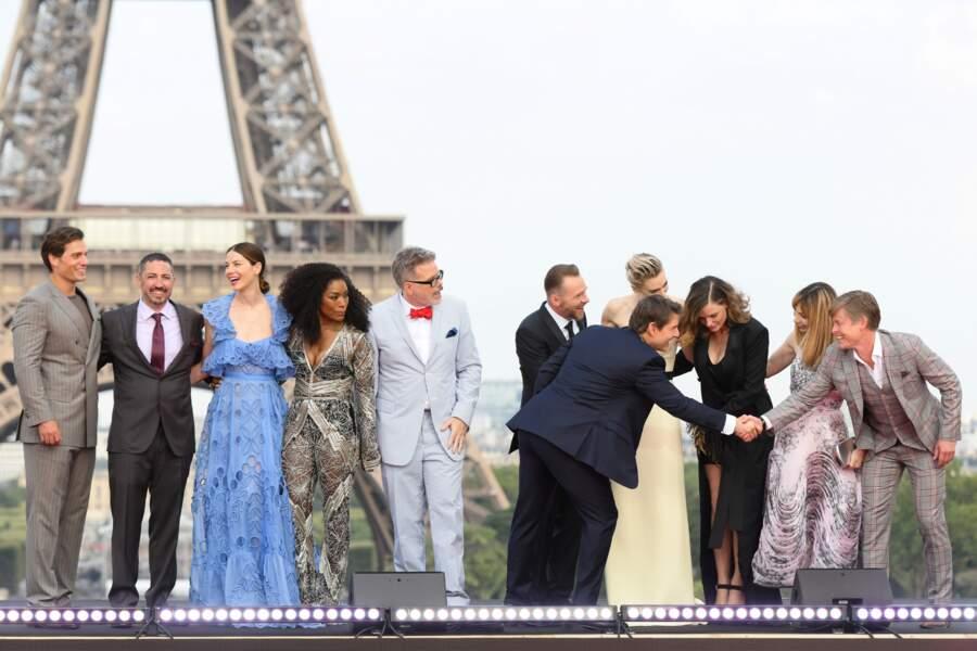 L'ensemble du casting de Mission Impossible au Trocadéro