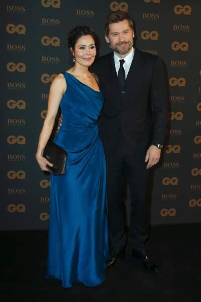 L'acteur pose avec sa femme