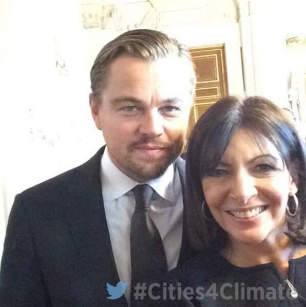 La rencontre qui rend jaloux : Leonardo DiCaprio + Anne Hidalgo. Snif.