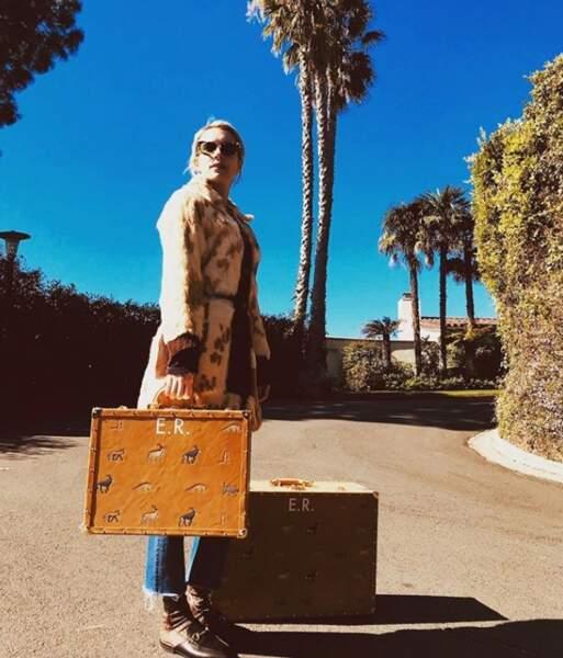 Emma Robert et ses grosses valises