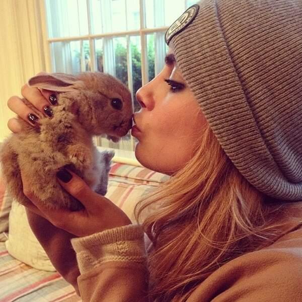 Et elle a créé un compte Instagram pour son lapin.