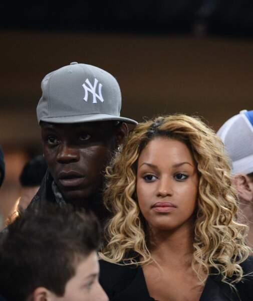 Voici le fantasque attaquant italien, Mario Balotelli, et sa compagne Fanny Neguesha, sa future femme