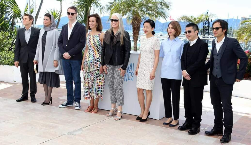 Jane Campion et les membres du jury du 67ème Festival de Cannes.