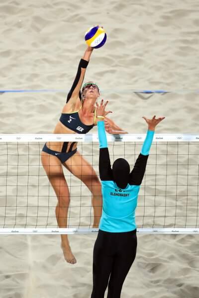 Clairement l'image forte du beach-volley
