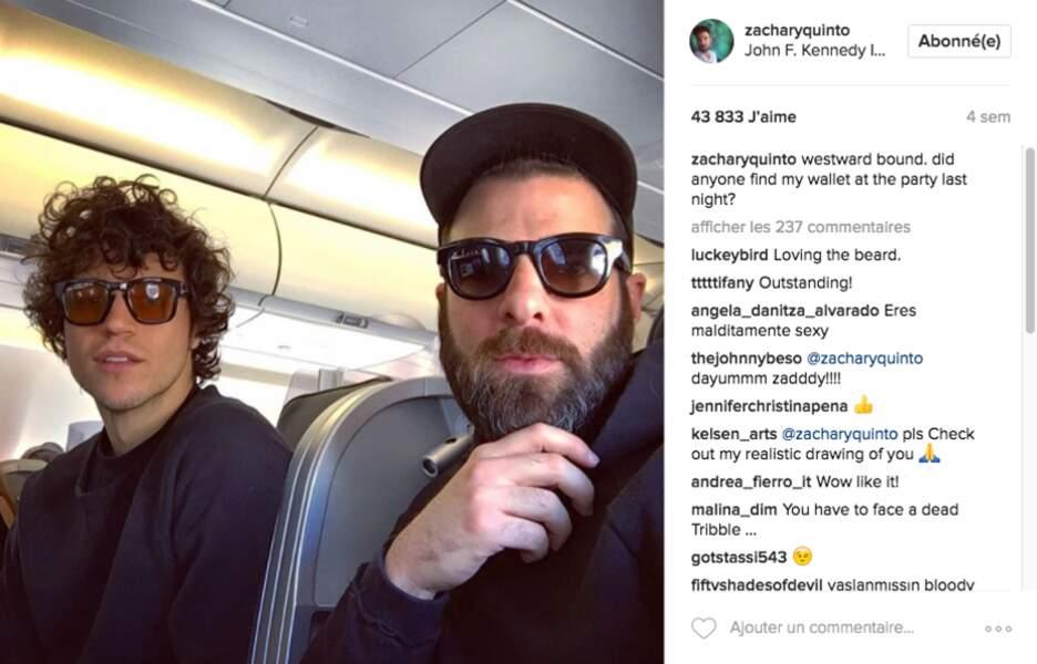 Mais qui est donc le jeune homme qui accompagne Zachary Quinto sur nombreuses de ses photos Instagram ?