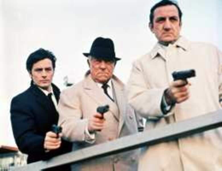 Brochette de luxe dans Le clan des Siciliens (1969) : Alain Delon, Jean Gabin et Lino Ventura