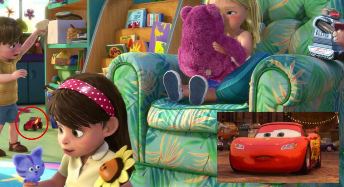 Toy Story 3 : Flash McQueen, petite voiture en jouet dans la garderie des enfants