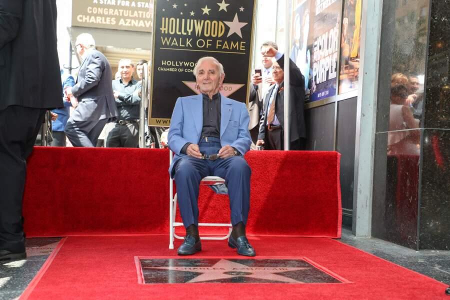 Charles Aznavour avait reçu son étoile à Hollywood en août 2017