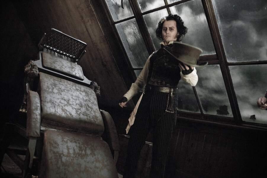 En 2007, Johnny ressort les lames, de rasoir cette fois, dans Sweeney Todd : Le Diabolique Barbier de Fleet Street