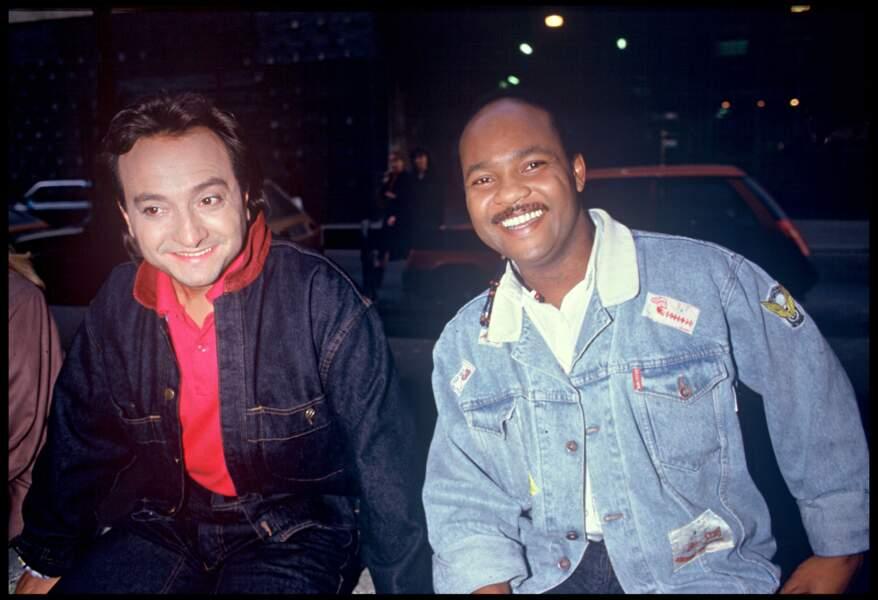 "Emile Wandelmer et Mario Ramsamy du groupe ""Emile et Images""  en 1986"