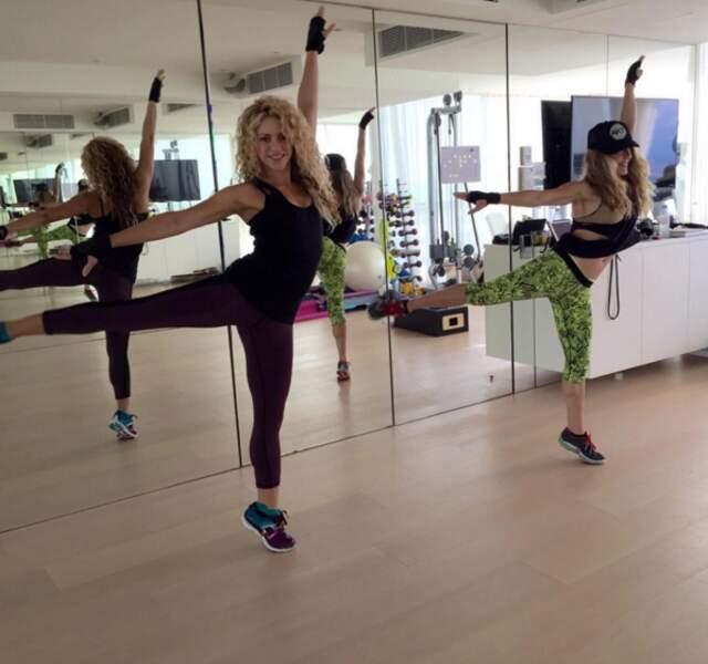 La classe de Shakira, même en répétitions.