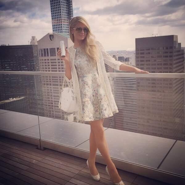 La star a présenté son nouveau parfum à New York