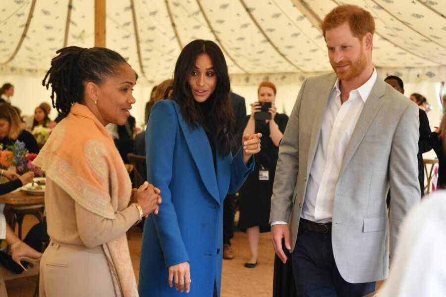 Le couple est très complice avec Doria Ragland qui vient d'arriver à Londres pour soutenir sa fille.