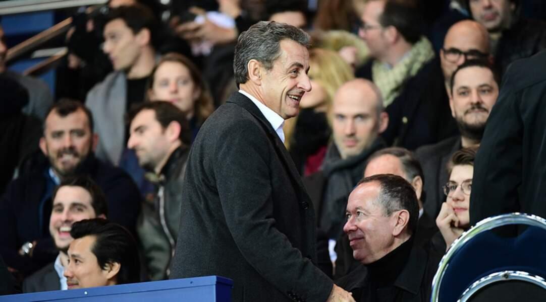 Nicolas Sarkozy a semblé apprécier le spectacle proposé par son équipe préférée