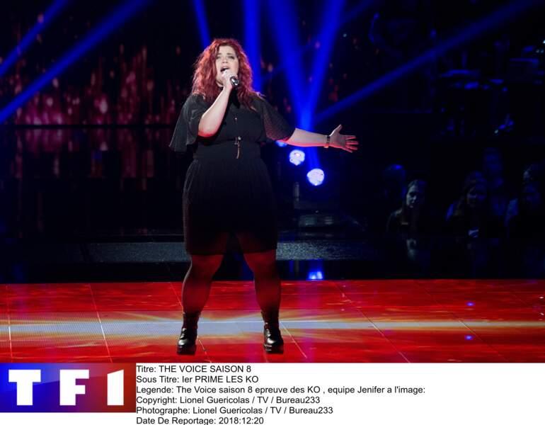 Sherley a gagné son ticket pour les duels en donnant de la voix sur un titre d'Adele