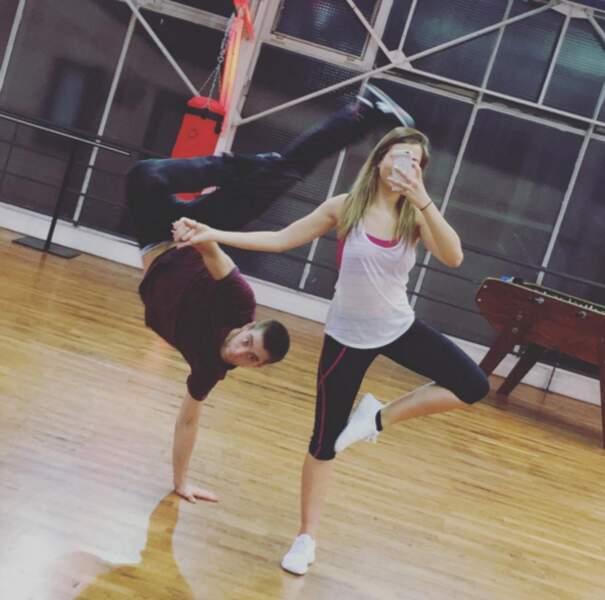 Instant breakdance pour EnjoyPhoenix lors de Danse avec les Stars...