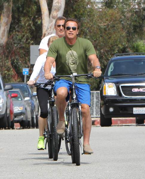 """I'll be back"", aurait dit Arnold Schwarzenegger avant cette balade en vélo."