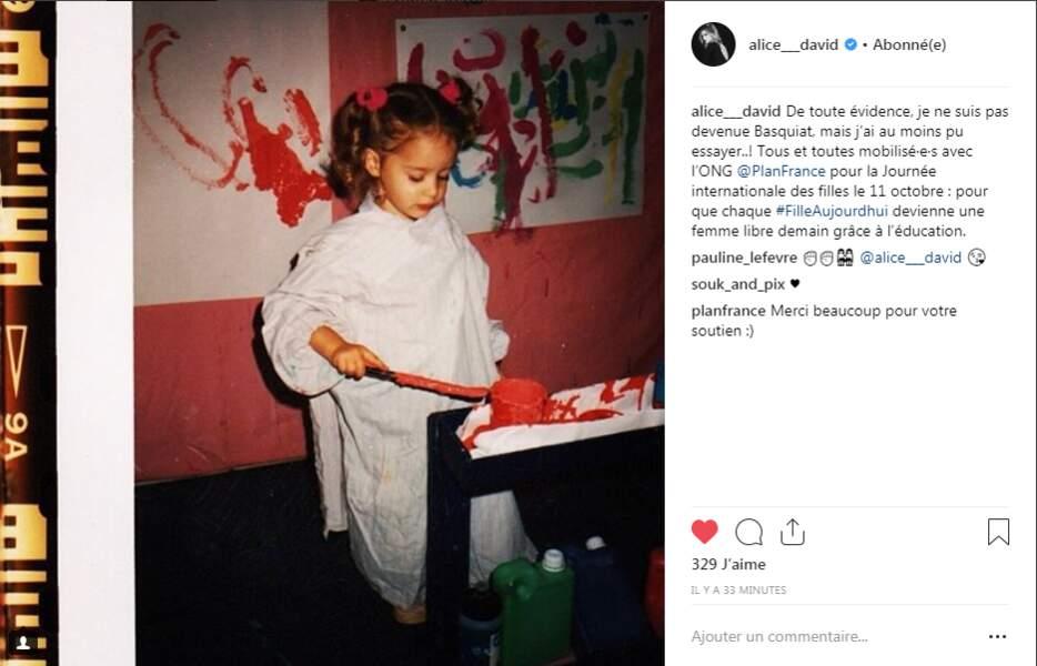 Ces derniers jours, des personnalités ont publié des photos d'elles enfant pour la journée des droits des filles