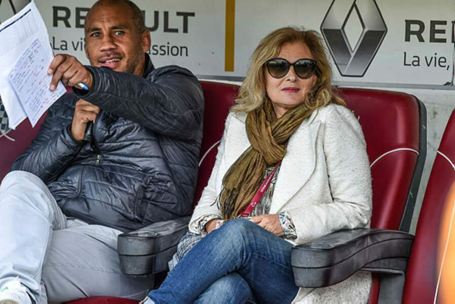 Valérie Trierweiler et son compagnon, l'ex-rugbyman Romain Magellan, ont assisté à la rencontre