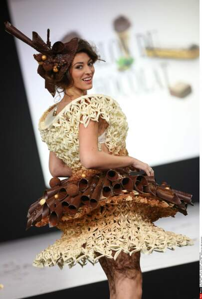 Rachel Legrain-Trapani bicolore au Salon du Chocolat 2014