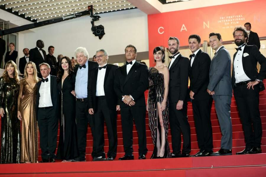 Christa Campbell, Avi Lerner, Victor Hadida, Sylvester Stallone, Paz Vega, Jeff Greenstein, Jonathan Yunger