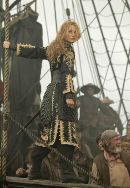 Pirates des Caraïbes 3, jusqu'au bout du monde (2007) : Keira Knightley en femme pirate sexy