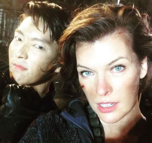 Avec l'acteur et spécialiste en arts martiaux Joon Gi