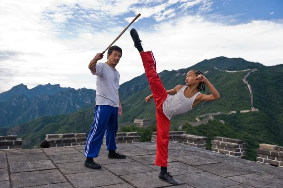 Avec Jackie chan, Jaden s'entraîne aux arts martiaux dans le remake de Karate Kid en 2010.